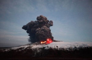 The Eyjafjallajokull eruption, April 2010.