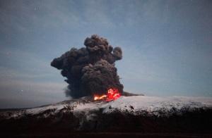The Eyjafjallajokull eruption, April 2010.